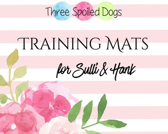 Large and XL Personalized Dog Mat for Hank and Sulli