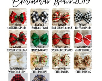 Replacement Bow for Christmas Stocking, Extra Bow for Dog Bone Stocking, Cat Fish Stocking, Red Green or Winter White