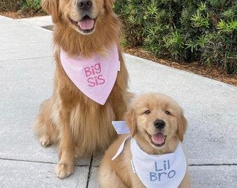 Seersucker Dog Bandana, Monogrammed Pet Bandana, Personalized Classic Tie Bandana, Dog Wedding, Dog Gift