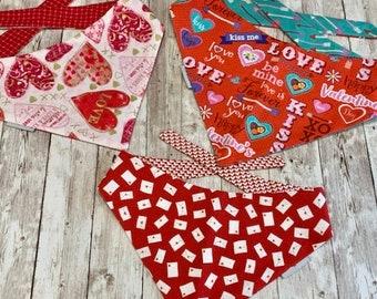 Valentine Dog Bandana, Valentine Day Envelopes with Hearts - Personalized Dog Scarf     Classic Tie Bandana