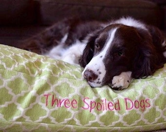 Green Personalized Dog Bed