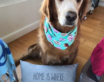 Home is Where the Golden is ... toss pillow, Decorative Dog Pillow, Goldendoodle, Doggie Decor, custom Gift for Dog Lover