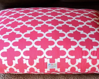 Extra Large Pink Dog Bed