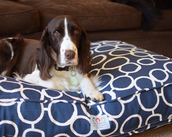 Personalized Large Dog Bed, Washable  Dog Bed Cover with Freehand Circles, Custom Puppy Dog Gift