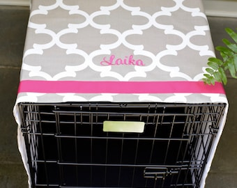 Monogrammed Crate Cover for Dogs