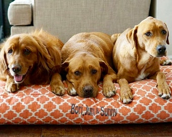 Extra Large Dog Bed in Orange