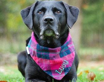 Flannel Dog Bandanas