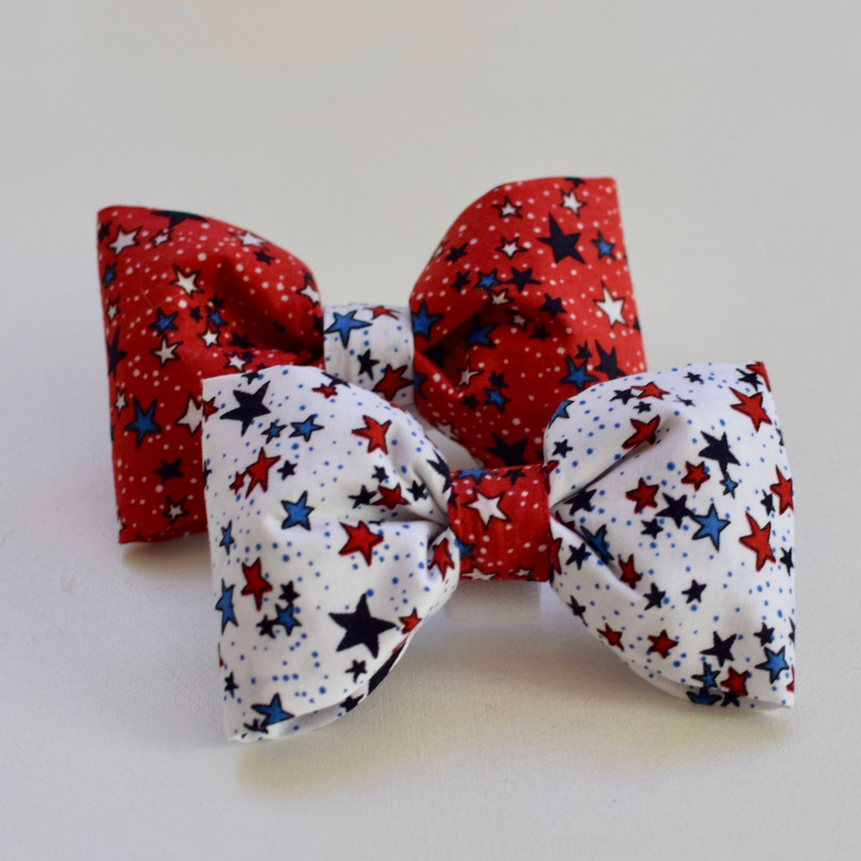 Personalized Dog Bow Tie - Patriotic Bow Ties - Custom Dog Lover Gifts - Walking Adventures - Special Occasions for Pets