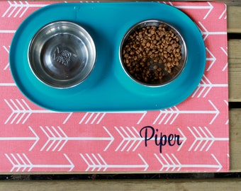 Personalized Pet Placemat for Food and Water
