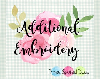 Reversible Pet Bandana   -   Additional Embroidery for My Three Spoiled Dogs Bandana