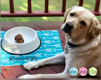 Personalized Dog Placemat for Food and Water
