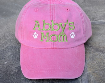 Dog Mom Baseball Cap Comes in 24 colors, Embroidered Just For You