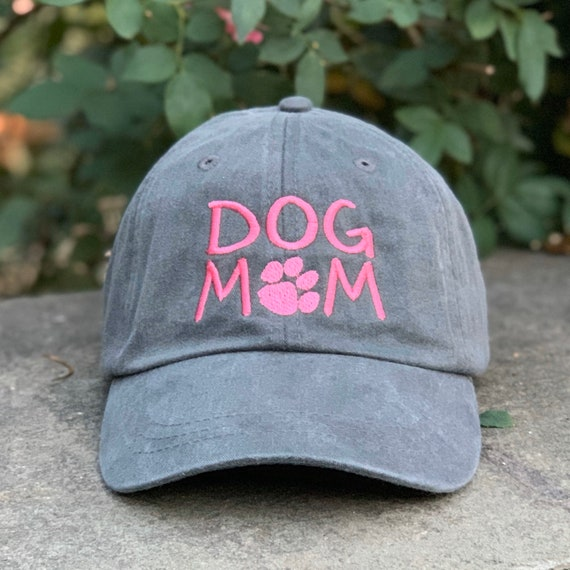 Distressed Baseball Cap OR Ponytail Hat Animal Lover Hat Love Paw Print Hat Gift for Dog Mom