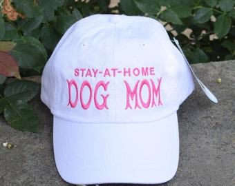 Dog Mom Baseball Cap with Paw Prints    Best Custom Gifts by Three Spoiled Dogs