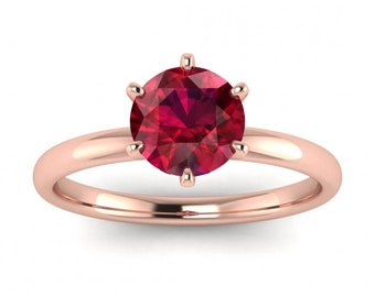 1.50Ct Natural Ruby Diamond Classic Engagement Ring 14K Gold Oval Ruby Wedding Gifted Ring Women Dainty Ruby Anniversary Ring 14K Rose Gold.