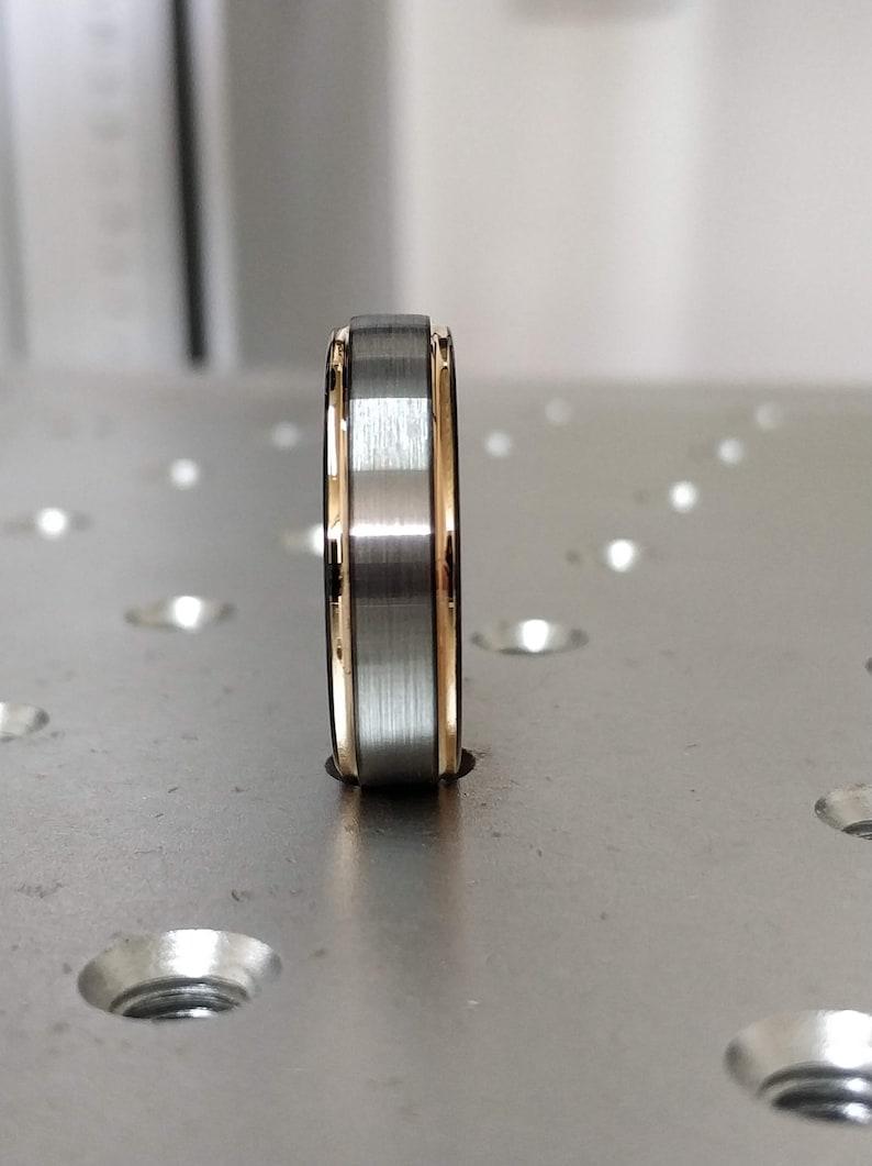 Gunmetal Tungsten Wedding Band Rose Gold Tungsten Band Rose Gold Tungsten Ring Black Ring Rose Gold Gunmetal Tungsten Ring