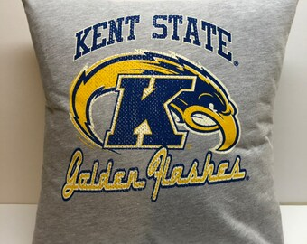 404d216d1 Kent State University Golden Flashes t-shirt Pillow 16x16 Upcycled One of a  Kind