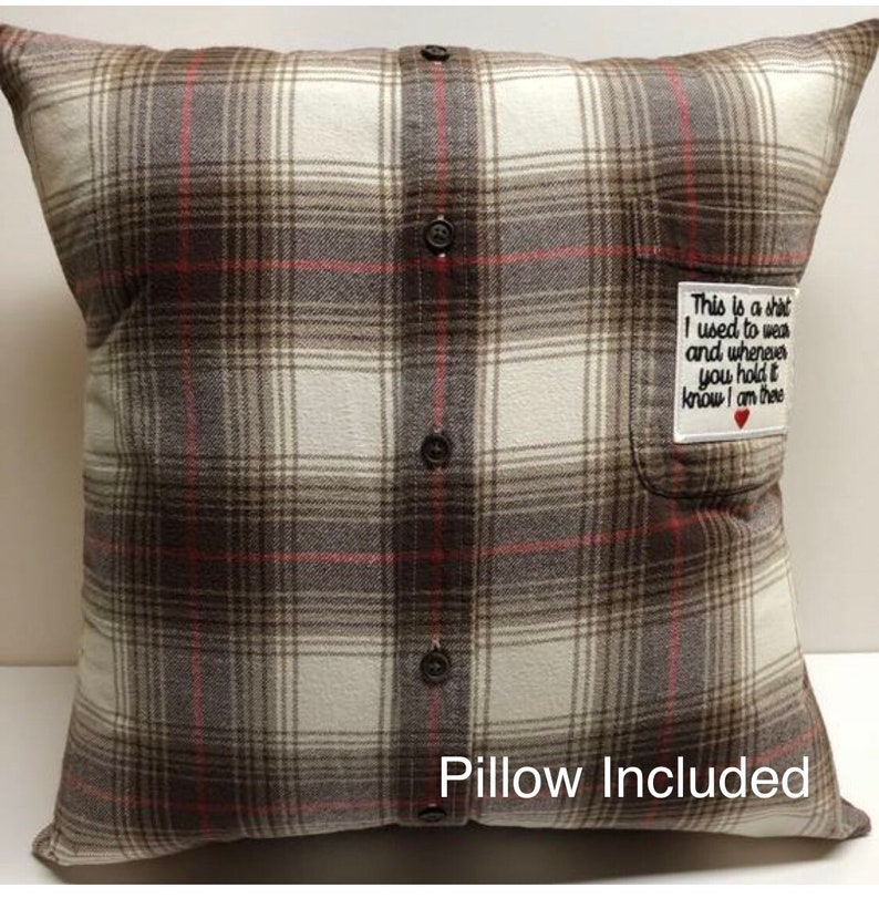 Memory Pillow // Pillow form included and optional patch // image 0