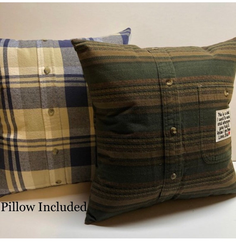 Memory Pillow // Memory Pillow from shirt // pillow form image 0