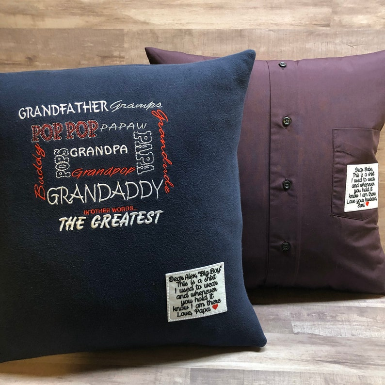 Personalized Memory Pillow with pillow form included and image 0
