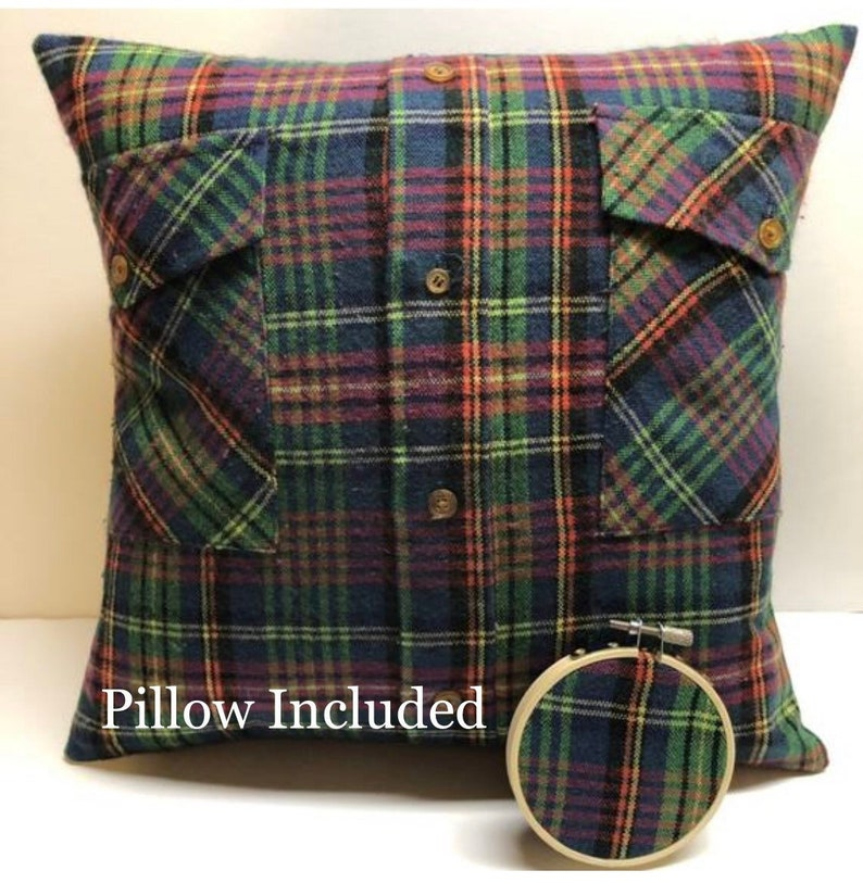 Custom Memory Pillow with pillow form included and optional image 0