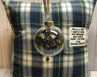 Keepsake Memory Christmas Ornament Custom made from the shirt of a loved one. Makes the perfect gift.