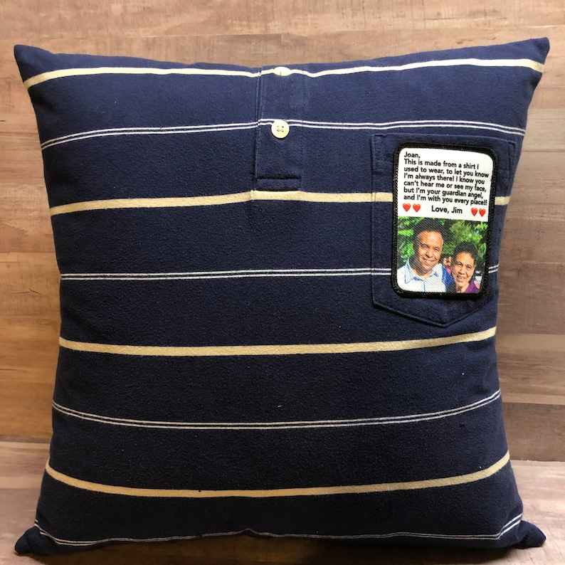 Photo Memory Pillow with pillow form included and custom image 0