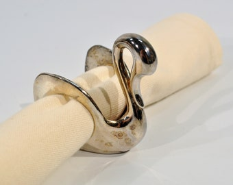 6 fancy napkin rings gold-plated Siegl Braunschweig glass menagerie