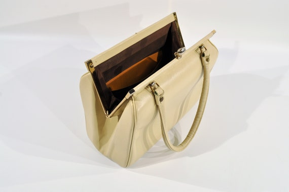 Kelly Style Leather Handbag /purse /1950s Handbag - image 3