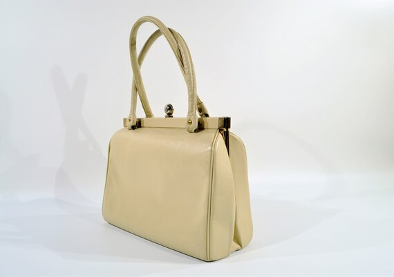 Kelly Style Leather Handbag /purse /1950s Handbag - image 10