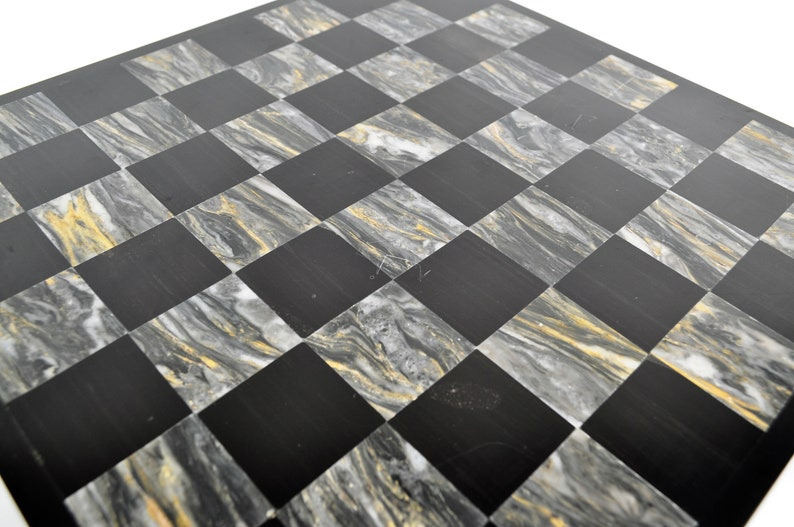 Mid Century Marble stone chess board bottle traycoffee table decormad man decorchess decor