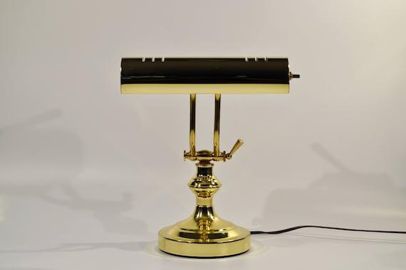 En Laiton Piano Desk Lampe En Laiton Reglable Bureau Piano Etsy