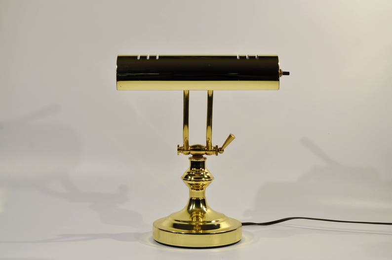Swell Brass Piano Desk Lamp Vintage Brass Adjustable Desk Piano Brass Gold Adjustable Lamp Office Lamp Table Lamp Mad Man Desk Lamp Download Free Architecture Designs Viewormadebymaigaardcom