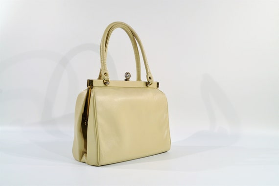 Kelly Style Leather Handbag /purse /1950s Handbag - image 1
