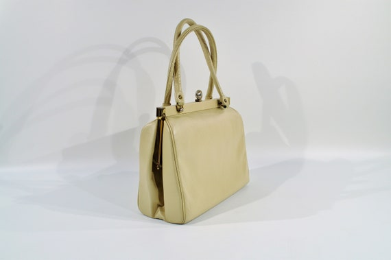 Kelly Style Leather Handbag /purse /1950s Handbag - image 5