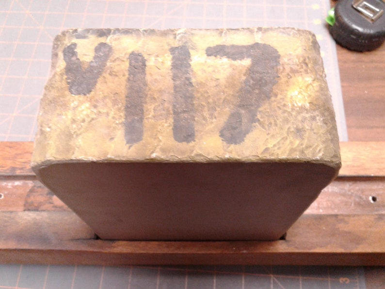 Antique Folk Art Carved Wooden Industrial Litho Stone Plate Sculpture FOLLANSBEE W VA Blacksmith Anvil and Forge Picture