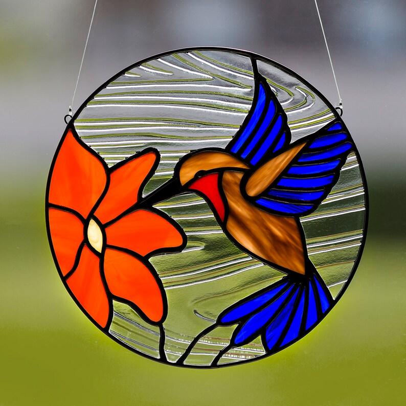 Colorful 6 Inch Hummingbird Ornament//Sun-catcher