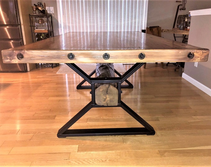 "Featured listing image: Modern, Dining Table ""X"" Legs, Model # TTSOLDB, Heavy Duty Metal Legs, Industrial Legs from 3"" x 1"" Tubing"
