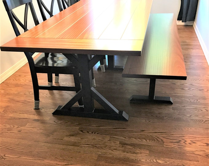 Featured listing image: Trestle Table Legs, Model #TR10 Heavy  duty,  Sturdy Metal Legs, Industrial Legs, Dining Table  Leg Set