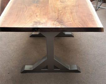 Trestle table legs etsy trestle table legs model tr10d heavy duty sturdy metal legs industrial legs dining table leg set watchthetrailerfo