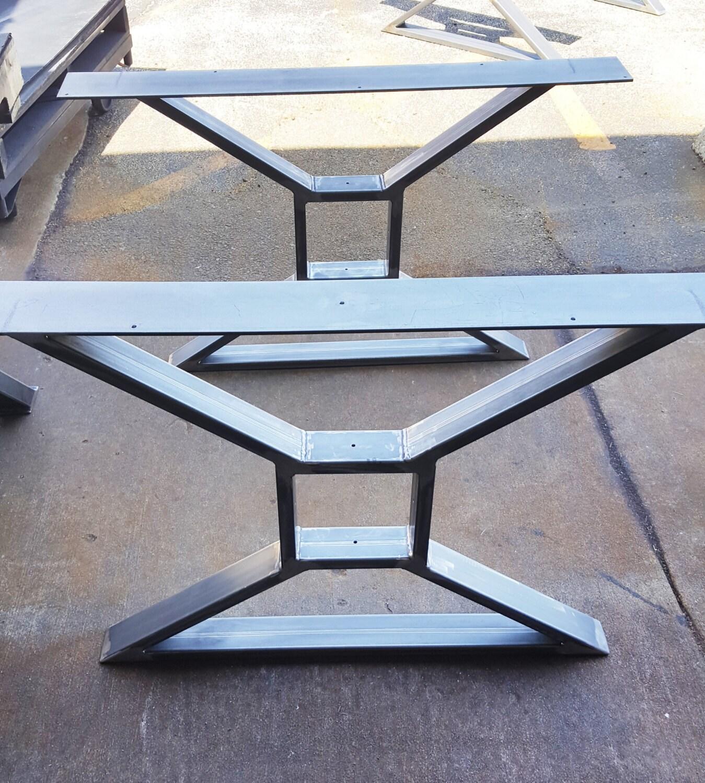 Modern Dining Table X Legs Model Tts09 Heavy Duty Metal Legs