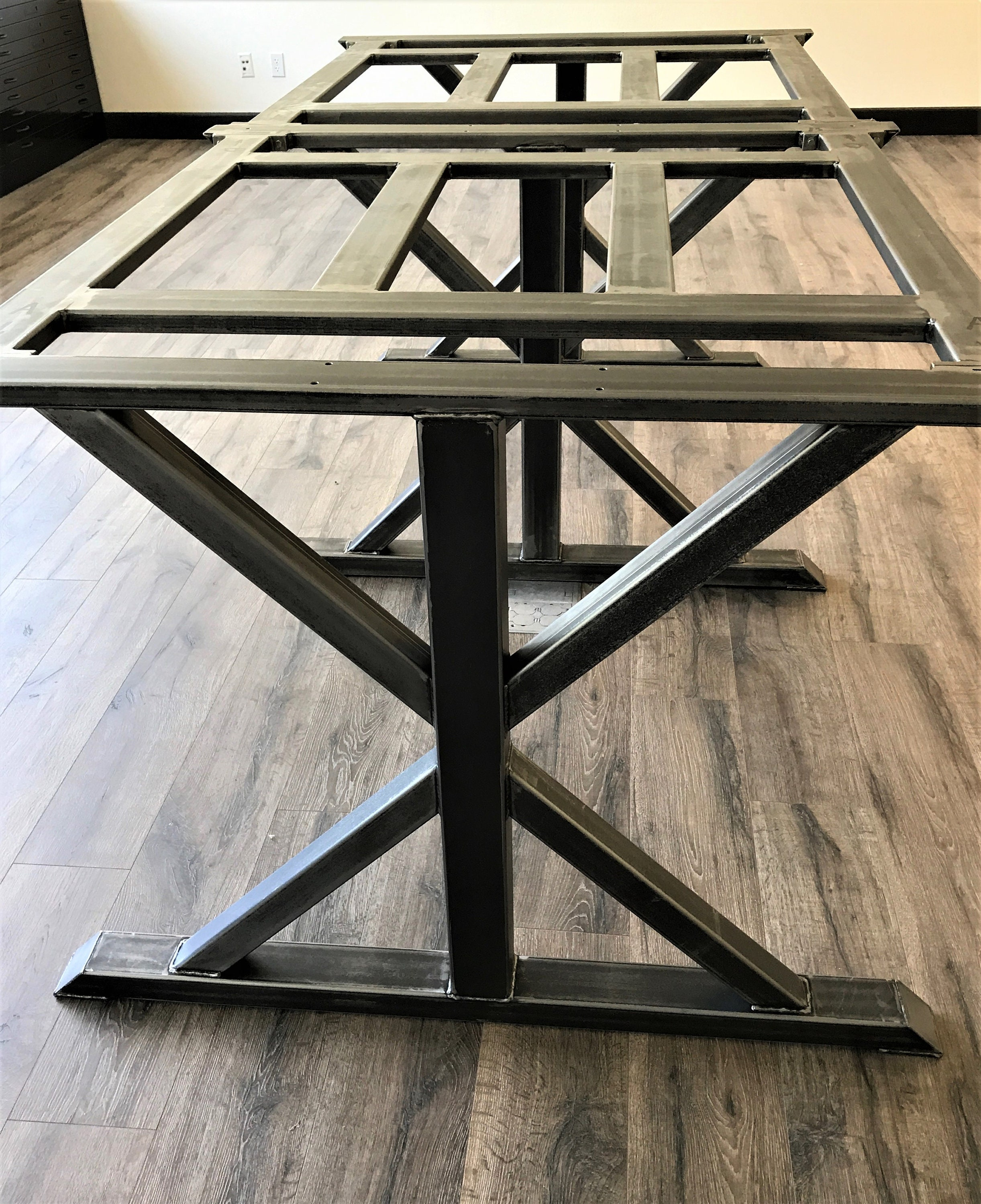 Modern Industrial Conference Dining Trestle Table Legs Model - Modern industrial conference table