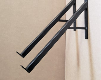Angled Bracket with Support for awning, shed - 15, 25, 35, 45 degree angle down