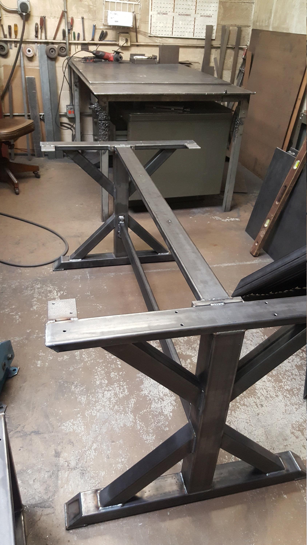 Trestle Table Legs With 2 Braces Model Tr11dcb2 Heavy Duty