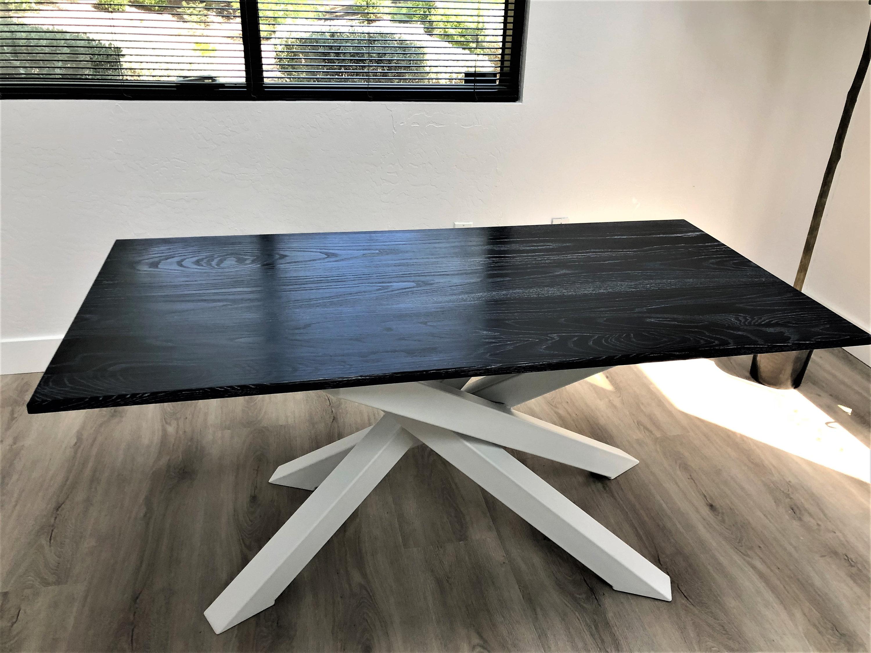 Non standard modern table x table legs model mnstl01