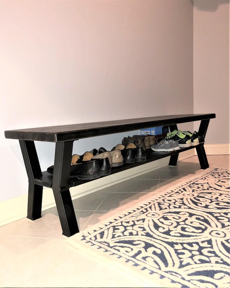 Ensemble De 2 Pieds De Banc Design Nouveau Modèle Shalabyhomebench 16 H X 14 W Avec Plateau Du Milieu Pour Les Chaussures
