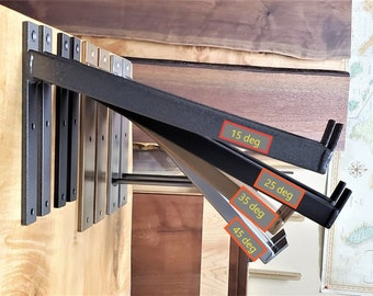 """Awning, Shed, Shelf Bracket. SOLD INDIVIDUALLY.  10"""" - 24""""  Industrial, 15, 25, 35, 45 degree angle down, **"""