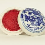 Red Ink Paste / Chinese Ink Set / Chinese Ink Paste / Traditional Red Ink Set and Gift Box