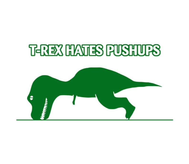 ba90d9ab2 T-rex Hates Pushups Funny T-shirt   Etsy