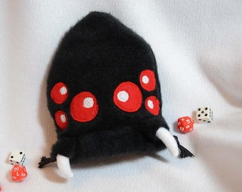 Monster Dice Bag Dungeons and Dragons Spider Plush Drawstring Pouch d20